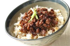 Pork Sauce Rice, a Taiwanese Snack   Hong Kong Food Blog with Recipes, Cooking Tips mostly of Chinese and Asian styles   Taste Hong Kong