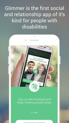 "Glimmer, a new dating app, is geared for those with disabilities.  Chicago native, Geoff Anderson, saw the need after his brother with cognitive disabilities struggled to find a match through popular dating apps. Anderson told the Chicago Tribune about his brother, ""Steve is just like any other single guy living in a big city — he wants to …"