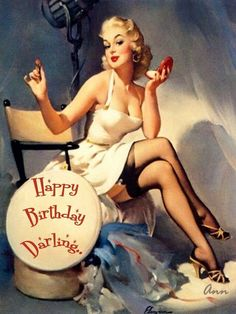 Vintage pinup birthday wishes