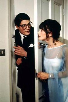 Christopher Reeve as Clark Kent and Margot Kidder as Lois Lane