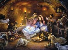 pictures of baby jesus with mary and joseph | jesus-in-manger-with-mary-joseph-and-animals.jpg