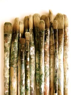 Its amazing how paint brushes can be art themselves.