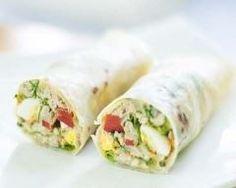 Wrap au thon, œuf dur et mayonnaise Ingrédients