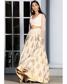 PERNIA QURESHI in AMAIRA Pale Pink Embroidered Lehenga Set #perniaqureshi #amira #pale #pink #embroidered #lehenga #set