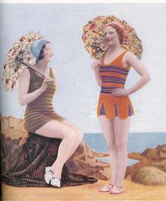 Love This, but knitting eludes me. 1930s Knit Your own Swimsuit Vintage Knitting by PamoolahVintage.  Etsy.