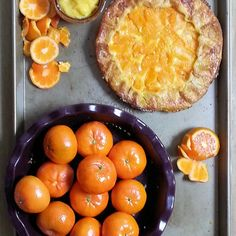Mandarin Lemon Curd Pie
