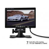 7 Inch HD LCD monitor - In-Car Headrest or Stand