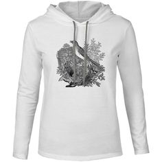 Mintage Garden Nest Mens Fine Jersey Hooded T-Shirt