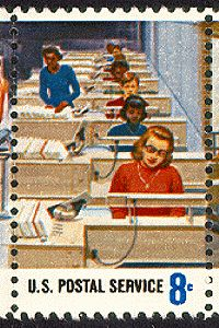 US Stamp Gallery >> Electronic letter routing#1