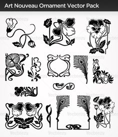 Art Nouveau | Art Nouveau Ornament Vector Pack - Vecteezy! - Download Free Vector ...