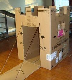 Cardboard Box Makeover #DIY