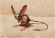 """Mark Molnar - Sketchblog of Concept Art and Illustration Works: Project Dune - Muad`Dib ----Muad'Dib took his name from a little kangaroo desert mouse. The Freman saw this as an omen. The mouse is """"wise in the ways of the desert."""""""
