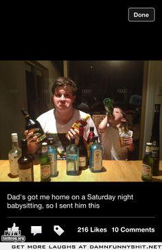 Dad had me babysit on a Saturday night so i sent him this