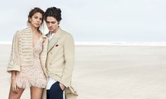 Kenya Kinski Jones and Will Peltz by Peter Lindbergh for Ermanno Scervino S/S 2017