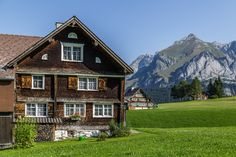Switzerland, Cabin, Adventure, Mountains, Mansions, House Styles, Places, Vacations, Travel