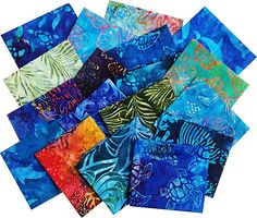 Robert Kaufman Totally Tropical Batiks Fat Quarter Bundle Robert Kaufman, Quilting, Fat, Tropical, Blanket, Sewing, Fabric, Tejido, Dressmaking