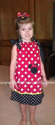 Minnie Mouse Pillowcase Dress Perfect for Disney by TutuFairy, $26.50
