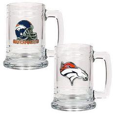 bronco weddings | Denver Broncos 2-pc. Glass Tankard Set