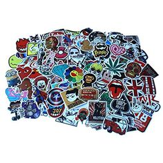 Diageng Random Styles Vinyl Stickers 6  12cm Pack of 100 ** Continue to the product at the image link. (Note:Amazon affiliate link)