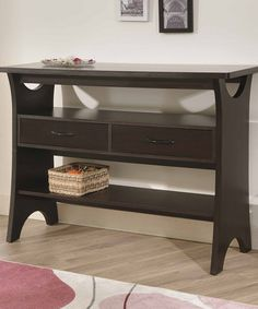 Take a look at this Walnut Brea Console Table by Furniture of America on #zulily today!