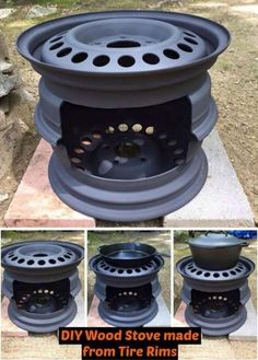 diy projects Check out this DIY Wood Stove made from tire rims! How cool is that to make something from recycled projects. Be sure to read all the tips we included. Welding Projects, Woodworking Projects, Diy Welding, Metal Welding, Woodworking Skills, Recycling Projects, Metal Projects, Diy Projects, Diy Wood Stove