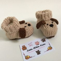 Dog knitted baby booties knitted baby shoes puppy baby boots hannade baby gift unisex boys girls knitted socks by LittleWhitsKnits on Etsy https://www.etsy.com/listing/268249126/dog-knitted-baby-booties-knitted-baby