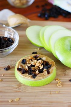Diced Prune and Peanut Butter Apple Snacks ~ a quick, easy, and delicious healthy snack! ad  www.thekitchenismyplayground.com  #TheFeelGoodFruit #CG