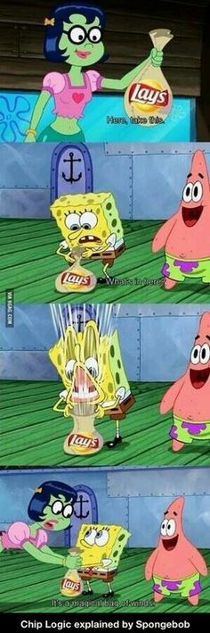 chip logic explained by spongebob
