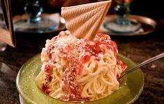 Los sabores más raros para un helado: ¡espaguetis!