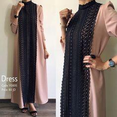 Elegant Robes Women Long Sleeve Maxi Dress Muslim Lace Applique Cute Al-jilbib Spring Autumn Abaya - Geeksmartbuy Modern Hijab Fashion, Hijab Fashion Inspiration, Islamic Fashion, Abaya Fashion, Muslim Fashion, Modest Fashion, Fashion Dresses, Trendy Dresses, Hijab Style