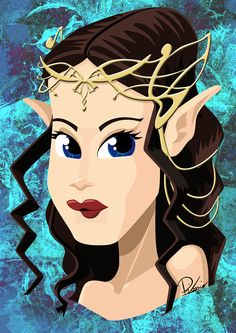Liv Tyler in the role of Arwen - caricature by Ribosio #thelordoftherings