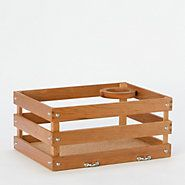 Cherry Wood Bicycle Crate--make from a clementine box for Ella's bike!