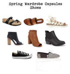 Spring Wardrobe Capsules Shoes by sabrinahjordan on Polyvore featuring  polyvore, fashion, style, Soda, TOMS, Steven by Steve Madden, Forever 21,  Converse, ...
