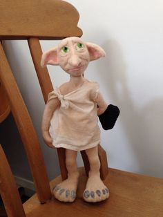 Dobby is a Free Elf ooak needle felt wool by Heartfelt61 on Etsy Sold and now living happily in Germany :)
