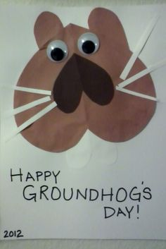 groundhog heart craft day