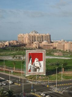 View of the Emirates Palace from the Hilton