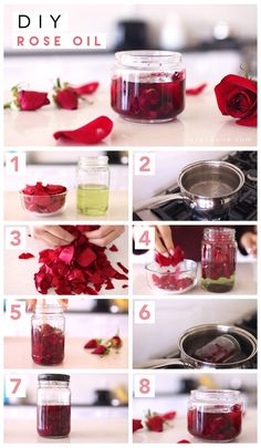 diy beauty Pamper yourself this Valentines weekend with this DIY rose oil recipe! This Rose oil can be used for moisturizing and pampering your body, hair, and nails. I had so much fun maki Diy Beauté, Diy Spa, My Beauty Routine, Skincare Routine, Homemade Beauty, Homemade Rose Water, Homemade Face Lotion, Homemade Body Wash, Homemade Face Moisturizer