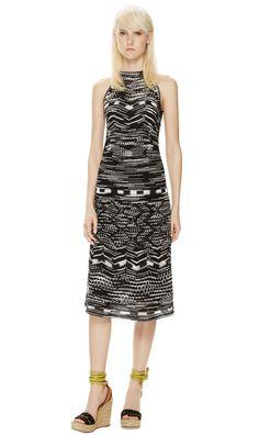 M-Missoni - WHITE & BLACK ZIGZAG DRESS