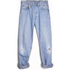 Vintage Distressed Levi's 501 Denim Boyfriend Jeans waist 29 ($64) ❤ liked on Polyvore featuring jeans, pants, levi, bottoms, levi boyfriend jeans, ripped boyfriend jeans, blue jeans, boyfriend fit jeans and torn boyfriend jeans
