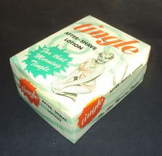 Vintage 50s Boxed After Shave Lotion. 'Tingle'. Woman's Body Bottle | eBay
