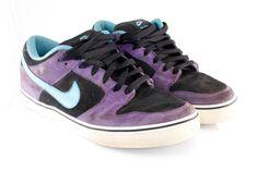 Nike Dunk Low LR Men's Shoes Size 10 Blk Purple Blue Skateboard Skate 487925-540 #Nike #Skateboarding