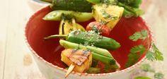 Gemüse-Ananas-Spieße   vegan