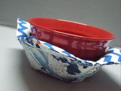 Microwave Bowl Warmer or Potholder Arizona Morning Fabric by AlwaysALittleBehind on Etsy