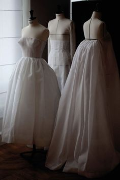 Toile looks inside the atelier for Christian Dior haute couture f/w 2012, photographed by Sophie Carre