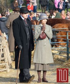 The Bates' Legal Team | Brendan Coyle and Joanne Froggatt on the set of Downton Abbey Series 6