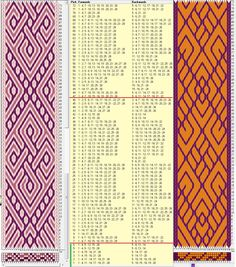 Two opposite threadings - same movements / 28 tarjetas, 3 / 2 colores, repite…