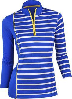 classic fit 6042f d664d EP Pro Women s Three-Quarter Sleeve Golf Polo