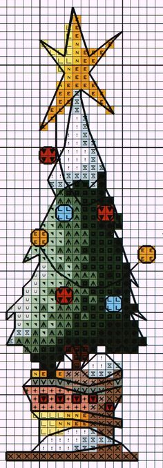 'Christmas Tree with Snow' from Michael Powell's 'Mini Cross Stitch' book…