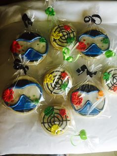 Paintball Cookies 15pcs by Cookiekikoku on Etsy