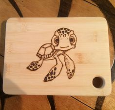 Small cutting board wood burned with a by Momsrusticwoodshop